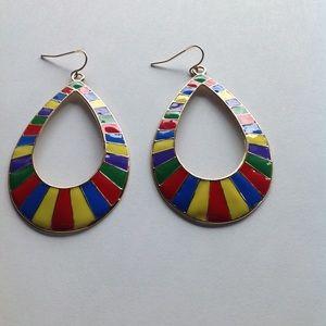 Beautiful rainbow earrings